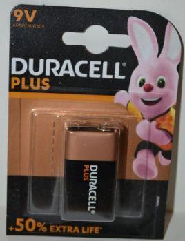 Батарейка Duracell Plus 9V MN1604 (крона) блистер 1х1шт /1/10шт.