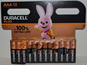 Батарейка ААА Duracell Plus LR-03 MN2400 1х12шт /12/144шт.