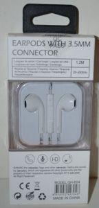 Наушники+микрофон E-04 iPhone i5 white