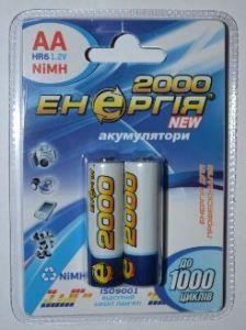 Акк Энергия НR-6 2000mAh Ni-MH блистер 1х2шт /2/20/