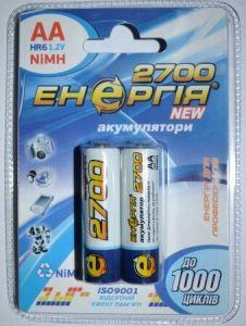 Акк Энергия НR-6 2700mAh Ni-MH блистер 1х2шт /2/20/