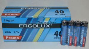 Батарейки ERGOLUX R-03 коробка 1х4шт /4/40/1200шт.