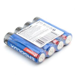 Батарейки ERGOLUX R-6 коробка 1х4шт /4/60/1200/