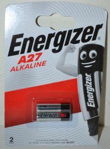 Батарейка Energizer 27А блистер 1х2шт /2/20шт.