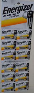 Батарейка Energizer LR-03 блистер 1х12шт (12x1шт отрывная) /12шт.
