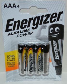 Батарейки Energizer LR-03 блистер 1х4шт /4/48/