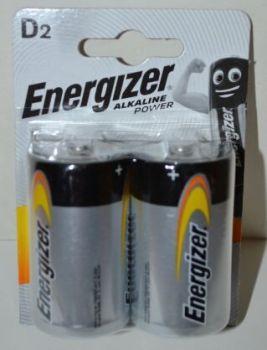 Батарейки Energizer LR-20 (тип D) блистер 1х2шт /2/24шт.