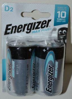 Батарейка Energizer MaxPlus LR-20 блистер 1х2шт /2/24шт.