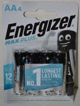 Батарейки Energizer MaxPlus LR-6 блистер 1х4шт /4/48шт.