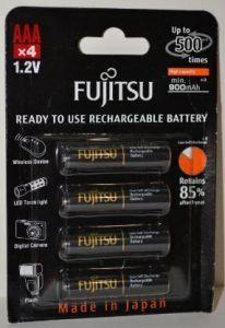 Аккумуляторы FUJITSU НR-03 900mAh Ni-MH блистер 1х4шт
