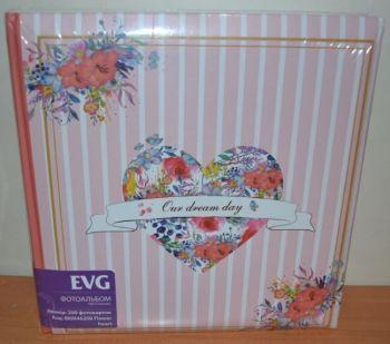 Фотоальбом на 200 фото 10х15 с местом для записей EVG Flower heart