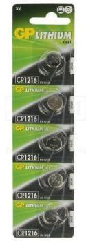 Бат GP CR-1216 Lithium 1х5шт /1/5/