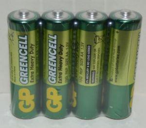 Батарейки GP R-6 (зеленая) коробка 1х4шт /4/40/1000/