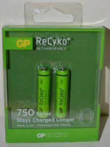 Аккумулятор GP Recyko НR-03 (ААА) 750mAh Ni-MH блистер 1х2шт /2/20шт. COPY