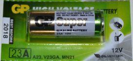 Батарейка GP Super Alkaline 23A 1х5шт /1/5/100/