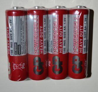Батарейки GP R-6 (красная) коробка 1х4шт /4/40/1000/