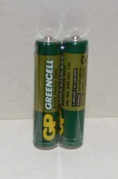 Батарейки GP R-03 (зеленая) коробка 1х2шт /2/40/1000/