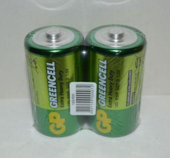 Батарейка GP R-20 (зелёная) коробка 1х2шт /2/20/