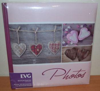 Фотоальбом на 200 фото 10х15 с местом для записей EVG Hearts