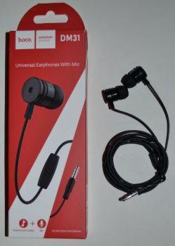 Вакуумные наушники с микрофоном Hoco DM31 black