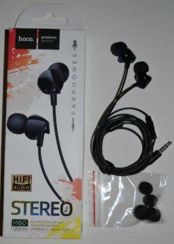Вакуумные наушники с микрофоном Hoco M60 black