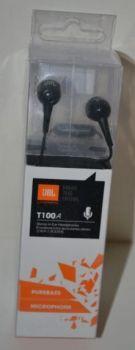 Вакуумные наушники с микрофоном JBL T-100A black