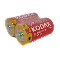 Батарейки KODAK EXTRA HEAVY DUTY R-14 коробка 1х2шт
