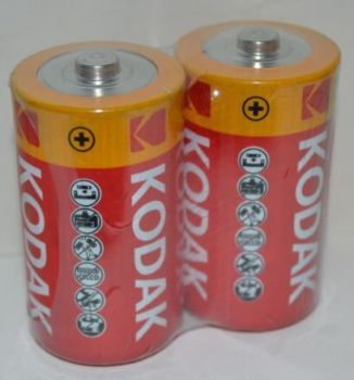 Батарейка KODAK EXTRA HEAVY DUTY R-20 коробка 1х2шт /2/24/