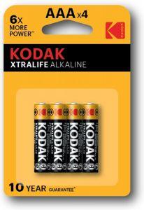 Батарейки KODAK Extralife LR-03 блистер 1x4шт /4/40/