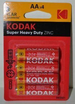 Батарейки KODAK EXTRA HEAVY DUTY R-6 блистер 1х4шт /4/80/