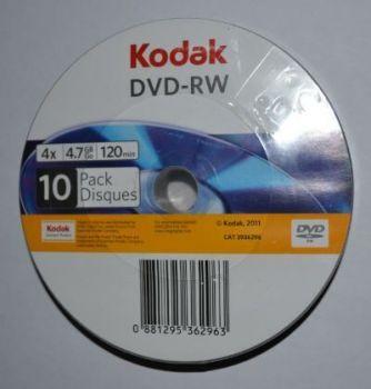 Медиа DVD-RW KODAK 4.7Gb 4x Bulk 10 /1/10/