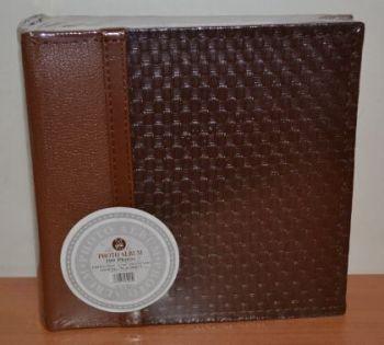 Фотоальбом на 100 фото 10х15 с местом для записей, L123-2 (коричневый)