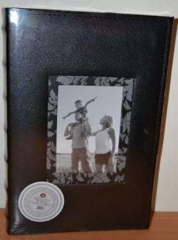Фотоальбом на 300 фото 10х15 с местом для записей в кожзаме, L127