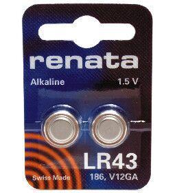 Час Renata LR43 (AG12) блистер 1х2шт