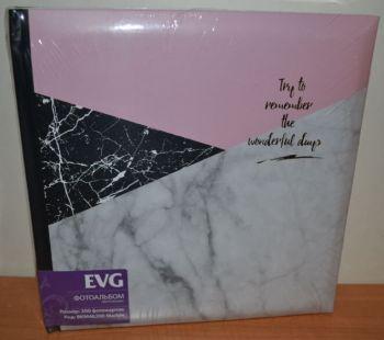 Фотоальбом на 200 фото 10х15 с местом для записей EVG Marble