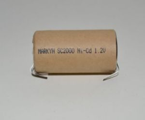 Аккумулятор Markyn SC 2000mAh 1,2V Ni-Cd + контакты 1х1шт (D=22,5; L=43,0mm)
