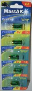 Бат Mastak 11A (LR11) 6V (d=10; l=16mm) 1х5шт /1/5шт.