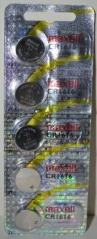 Батарейка Maxell СR-1616 Lithium 1x5шт /1/5/