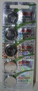 Батарейка Maxell СR-2025 Lithium 1x5шт /1/5/100/