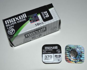 Часовая батарейка Maxell 370 (SR-920W, SR-69) AG6 1х1шт /1/10/100шт.