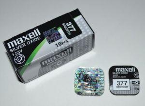 Часовая батарейка Maxell 377 (SR-626SW, SR-66) AG4 1х1шт /1/10/100/