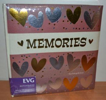 Фотоальбом на 200 фото 10х15 с местом для записей EVG Memories