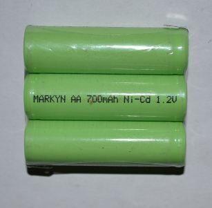 Акк Markyn T110 (3*AA) 700mAh 3,6V Ni-Сd + контакты