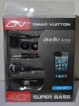 Наушники+микрофон OMAR VUITTON OV-A7 black /1/