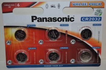 Батарейки PANASONIC CR-2032 Lithium 1х6шт /6/120шт.