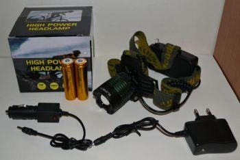 Фонарик налобный POLICE BL-2188B-T6 50000W + 2 аккумулятора + зарядное устройство
