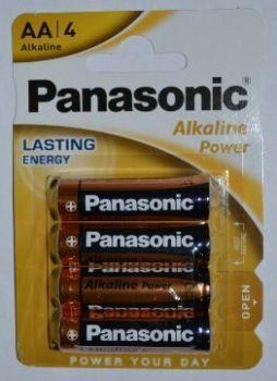 Батарейки PANASONIC Alkaline Power LR-6 блистер 1х4шт /4/48/