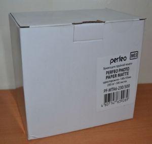 Фотобумага Perfeo 230g A6 (10х15) 500л матовая