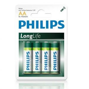 Бат Philips Longlife R-6 блистер 1х4шт /4/48/240/