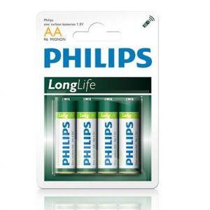Бат Philips Longlife R-6 блистер 1х4шт /4/48/240/